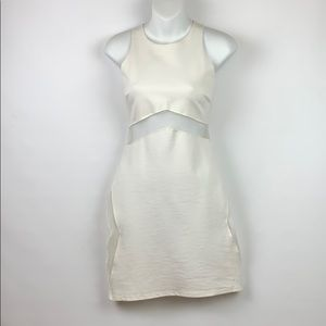 Wet Seal Bodycon White Dress With Cutouts